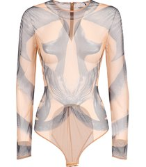 burberry printed bodysuit