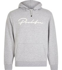 river island mens prolific grey slim fit hoodie
