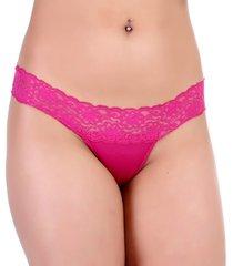 calcinha mardelle tanga fio rosa - kanui
