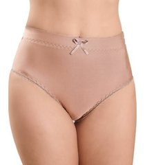 calcinha vip lingerie alta castanho bege - bege - feminino - poliamida - dafiti