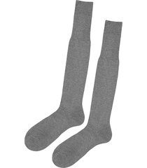 calzedonia - tall egyptian cotton socks, 46-47, grey, men