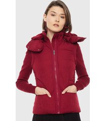 chaqueta desigual rojo - calce regular