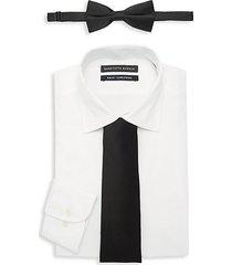 3-piece slim-fit dress shirt, bow tie & tie set