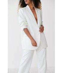 angelica blick x na-kd oversize blazer - white