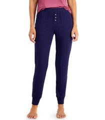 alfani ultra-soft knit jogger pajama pants, created for macy's