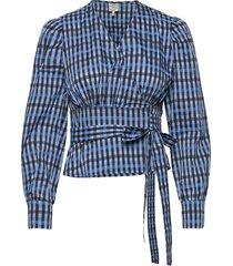 maeci blouse lange mouwen blauw baum und pferdgarten