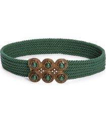 women's etro multi strand rope belt, size 95 - verde