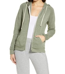 women's alternative adrian zip hoodie, size 2x - green
