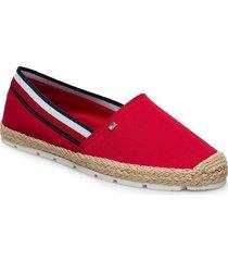 basbasic tommy corp espadrille sandaletter expadrilles låga röd tommy hilfiger