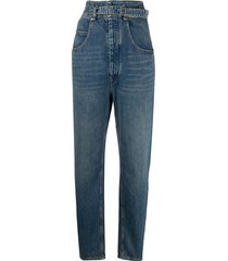 isabel marant étoile high-rise belted jeans - blue