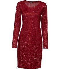 abito in maglia con strass (rosso) - bodyflirt