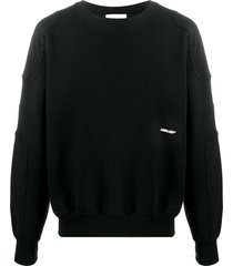 ambush panelled embroidered-logo sweatshirt - black