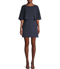 jamey short cape-sleeve dress