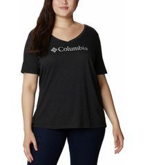 columbia plus size relaxed v-neck t-shirt