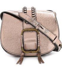 ba & sh teddy buckled crossbody bag - neutrals