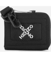 kenzo men's sport x zip wallet - black