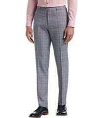 paisley & gray slim fit suit separates pants light blue plaid