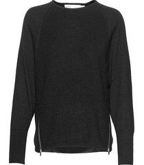 emaiw zipper pullover gebreide trui zwart inwear