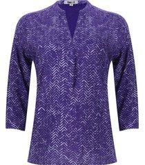 blusa lineas en zig zag color morado, talla m