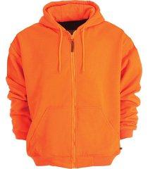hi visibility blaze orange hunting hooded thermal lined sweatshirt #vc-sz101-ba
