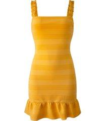 bcbgeneration knit ruffled mini dress