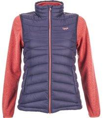 chaqueta just go fusion-3 vest jacket azul noche/melange salmon lippi