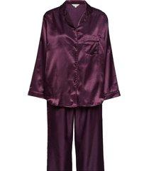 satin long sleeve pyjamas pyjamas lila lady avenue