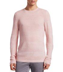 collection textured stripe merino wool sweater