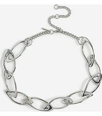 *organic link chain necklace - silver