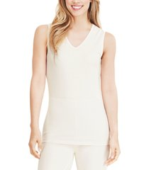 cuddl duds softwear lace-edge v-neck tank top