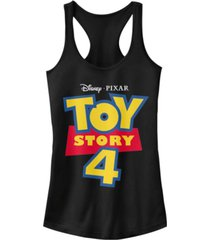 disney pixar juniors' toy story 4 full color logo ideal racerback tank top