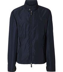 burberry monogram motif taffeta jacket - blue