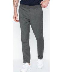 filippa k m. terry cropped trouser byxor grey melange