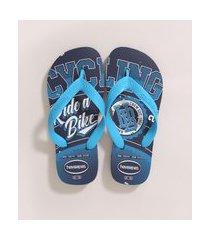 chinelo infantil havaianas athletic azul marinho