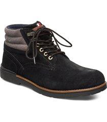 outdoor suede hilfiger boot snörade stövlar svart tommy hilfiger