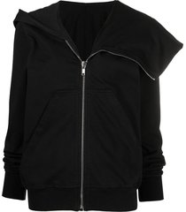 rick owens drkshdw spread-collar jacket - black