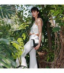 kadell flip small flip borsa messenger color metallo per donne borsa