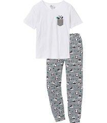pigiama con maglia oversize (bianco) - rainbow