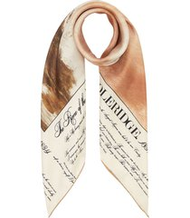 burberry mariner printed square scarf - neutrals