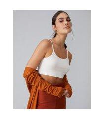 amaro feminino top cropped algodão, off-white