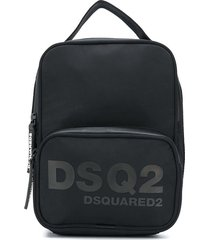 dsquared2 square logo backpack - black