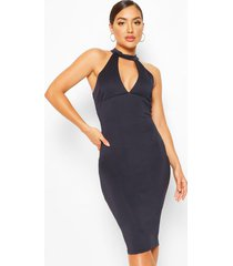 bodycon midi dress, navy