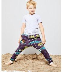 spodnie purple palm harem
