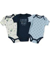 cutie pie baby baby boys 3-pc. printed bodysuits set