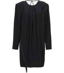 dress with fringes i18562 cd009-900-black-40