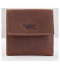 men's leather coin wallet, 'esquire in dark brown' (peru)