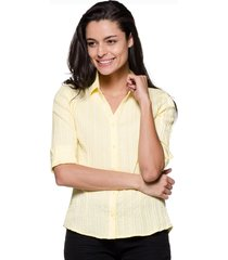 camisa intens comfort amarela