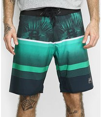 bermuda boardshort rusty tropical blocks masculina