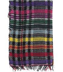 faliero sarti ginetta checked cashmere scarf 70x190