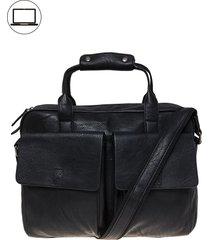 bolso laptop vintage negro rocha
